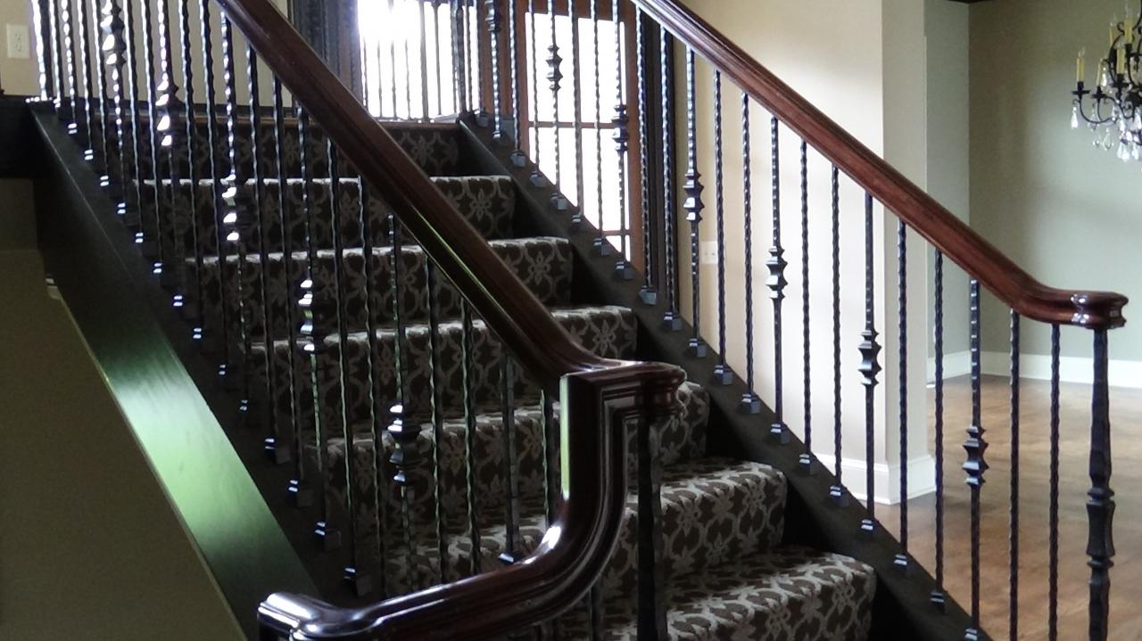 Iron spindles kansas city iron spindles update a home staircase lenexa kansas wrought iron - Give home signature look elegant balustrades ...